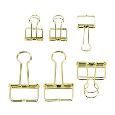 Uniti Secret Garden Binder Clip Set 6 Pack