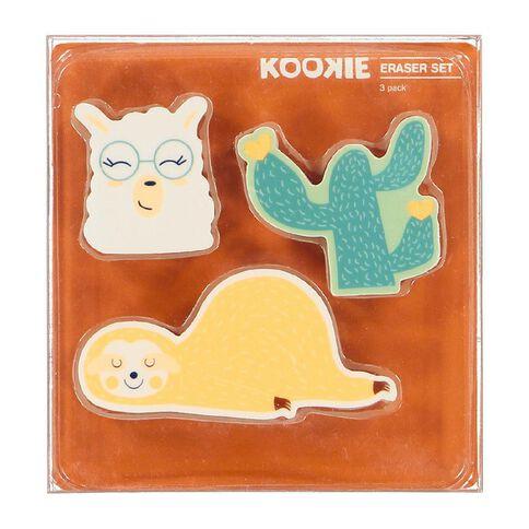 Kookie Novelty19 Erasers Set 3 Pack