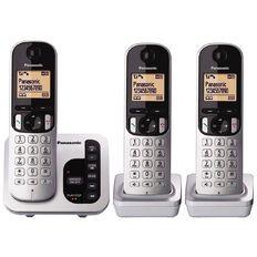 Panasonic KX-TGC223NZS Triple Cordless Handset Silver Silver