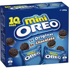 Oreo Mixed Mini Multipacks Van/Choc 230g