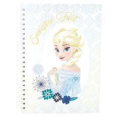 Frozen Springtime Frost Elsa Notebook A4