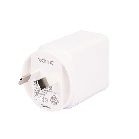 Tech.Inc Wall Charger 1A White