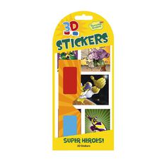 Peaceable Kingdom Stickers 3D Superheroes