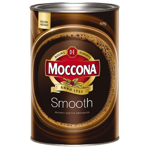 Moccona Coffee Smooth Granulated Tin 500g