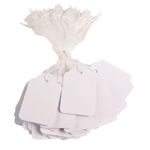 APLI Strung Tickets 28mm x 43mm 500 Pack White