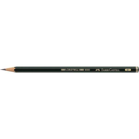 Faber-Castell 9000 Artist Pencil 6H Black