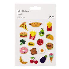 Uniti Puffy Stickers Food