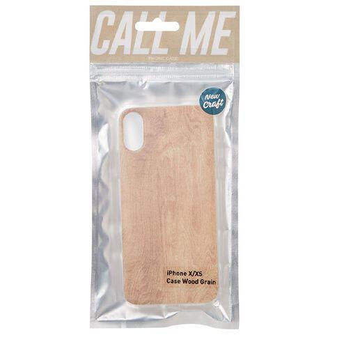 New Craft iPhone X/XS Wood Grain Case