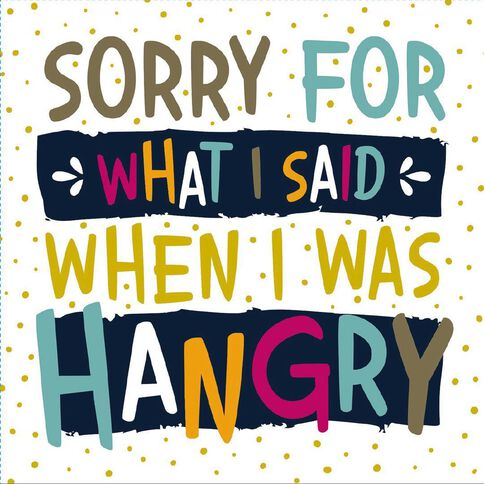 Artwrap Printed Napkins Hangry 2 ply 33cm x 33cm 20 Pack