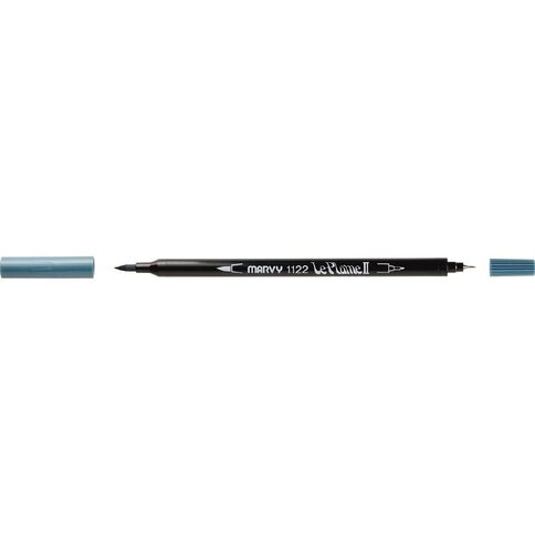 MARVY Le Plume II Dual Tip Marker Dull Blue
