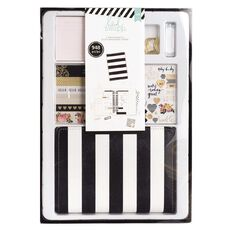 Heidi Swapp Planner Gift Set Undated Black/White