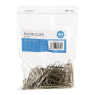 WS Paperclips 33mm 100 Pack Silver