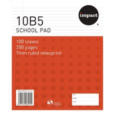 Impact Pad Refill 10B5 7mm Ruled 100 Leaf Red