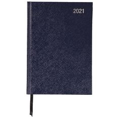 WS Diary 2021 Week To View Blue A5 Blue A5