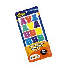 Projex Alphanumeric Stickers Brights 2.5cm 199 Piece