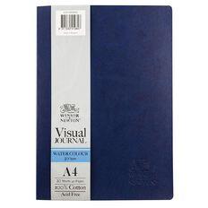 Winsor & Newton Watercolour Visual Journal 300gsm A4 20 Sheets Blue