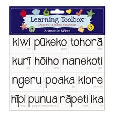 Learning Tool Box Magnetic NZ Maori Animals Assorted
