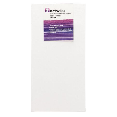 Uniti Blank Canvas 1 Piece White 15cm x 30cm