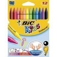 Bic Children's Colouring Crayons 12 Pack Multi-Coloured 12 Pack
