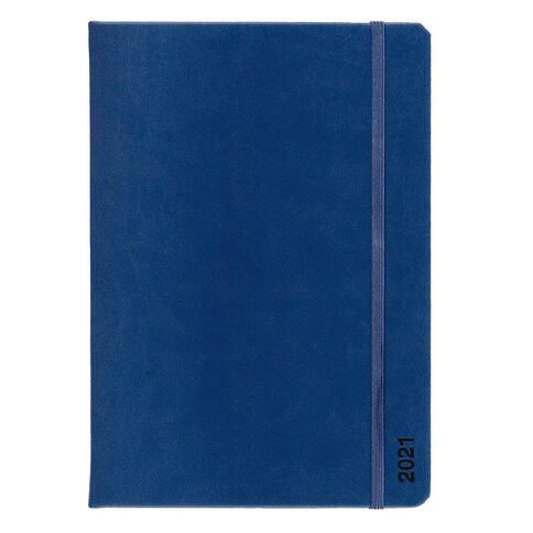 Dats Diary 2021 Day To Page Fashion PU Cover Assorted A5
