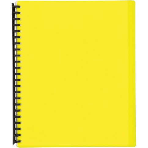Impact Clear Book Refillable 20 Leaf Yellow A4