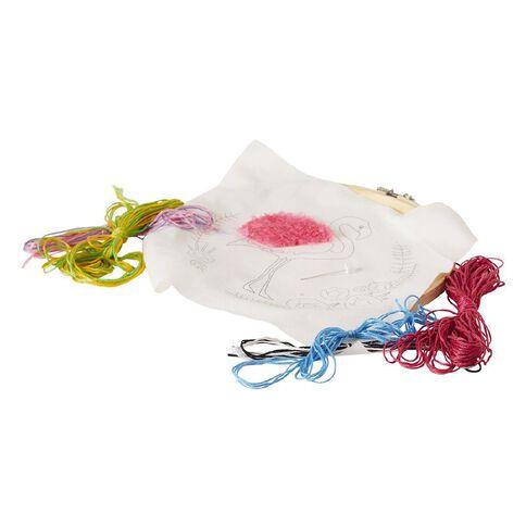 Uniti Embroidery Kit Flamingo