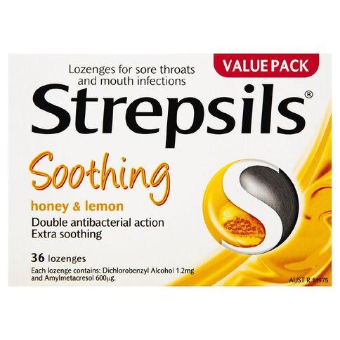 Strepsils Lozenges Honey Lemon 36s