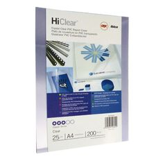 Ibico Binding Cover Gbc Transparent 200 Micron 25 Pack