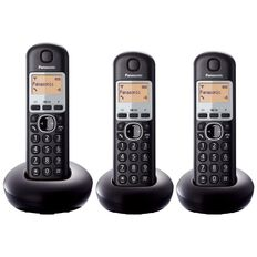 Panasonic Kx-Tgb213Nzb Triple Cordless Phone Black