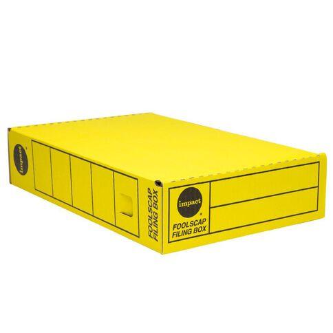 Impact Storage Box Foolscap Yellow