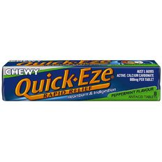 Quick Eze Antacid Tablets Chewy Peppermint 8s