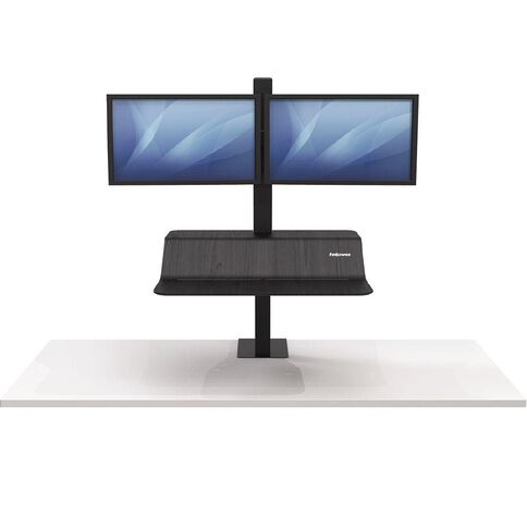 Fellowes Lotus VE Sit Stand Double Black