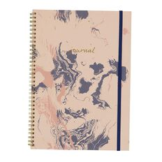 Uniti F&F Softcover Spiral Notebook Journal Foil Pink A4