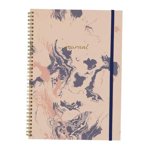 Uniti F&F Softcover Spiral Notebook Journal Foil Pink A4