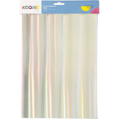 Kookie Paper Holographic 10 Pack Multi-Coloured A4