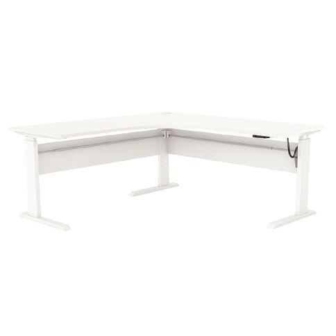 Cubit Height Adjustable Electric Workstation 1500 White/White