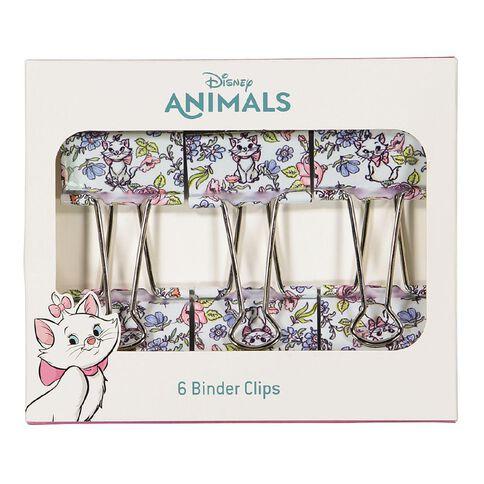 Disney Aristocats Binder Clips 6 Pack