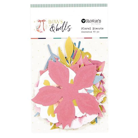 Rosie's Studio Bows & Bells Floral Diecuts 50 Pieces