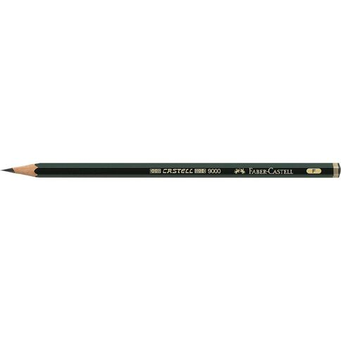 Faber-Castell 9000 Artist Pencil F Black