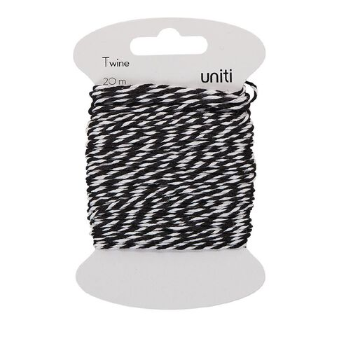 Uniti Twine Black/White 20m