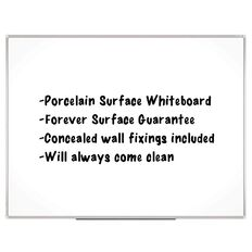Boyd Visuals Porcelain Whiteboard 900 x 1200mm White