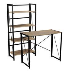 Buy 1 Workspace Folding Desk & 1 Workspace Folding Bookcase for $179