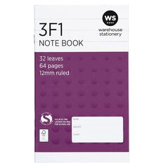 WS Notebook 3F1 12mm Ruled 32 Leaf