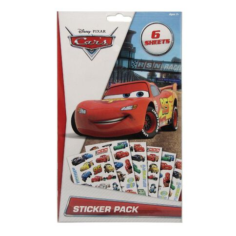 Cars 2 Sticker Book 6 Page Assorted