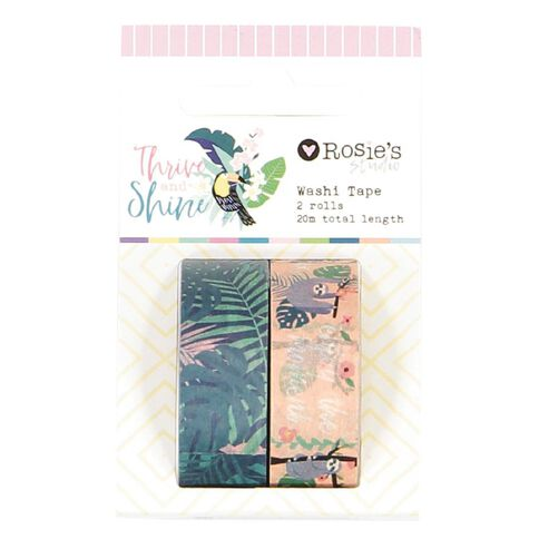 Rosie's Studio Thrive and Shine Washi Tape 18m 2 Pack