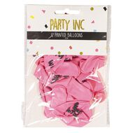 Party Inc Printed Balloons Make A Wish 25cm 12 Pack