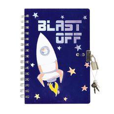 Kookie Space Lock Notebook Navy A5
