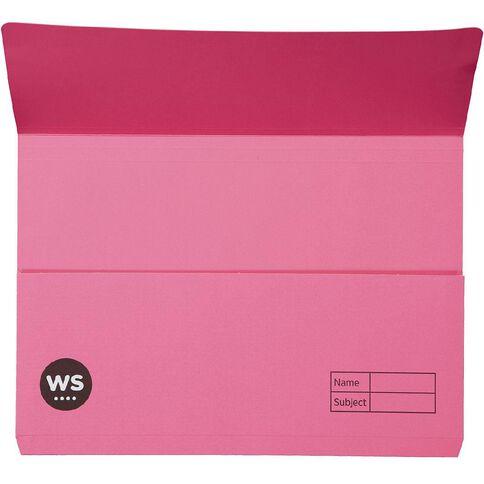 WS Manilla Document Wallet Foolscap Pink
