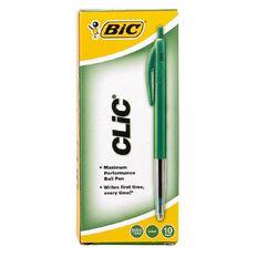 Bic Clic Pen 2000 10 Pack Green