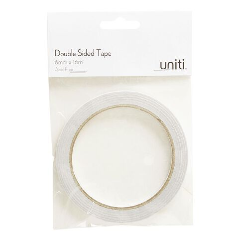Uniti Double Sided Glue Tape 6mm x 16m Clear